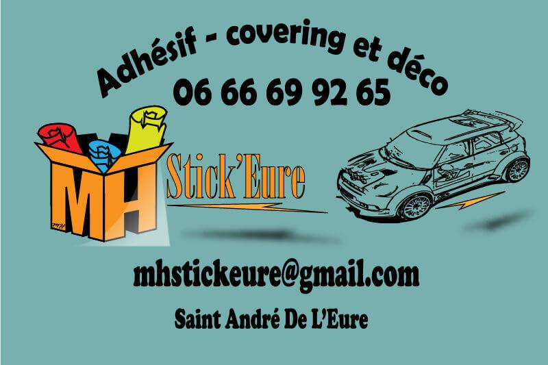 MH Stick Eure Michel HENNEQUIN Sticker covering signalétique décoration adhésif saint-andré Plaines et Vallées