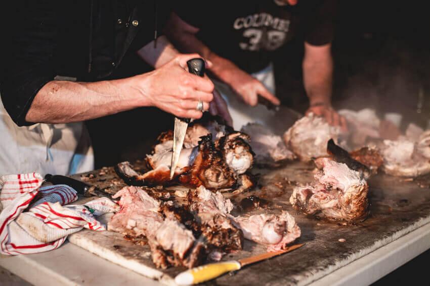 Soirée repas cochon grillé Rallye TT Plaines et Vallées Championnat de France