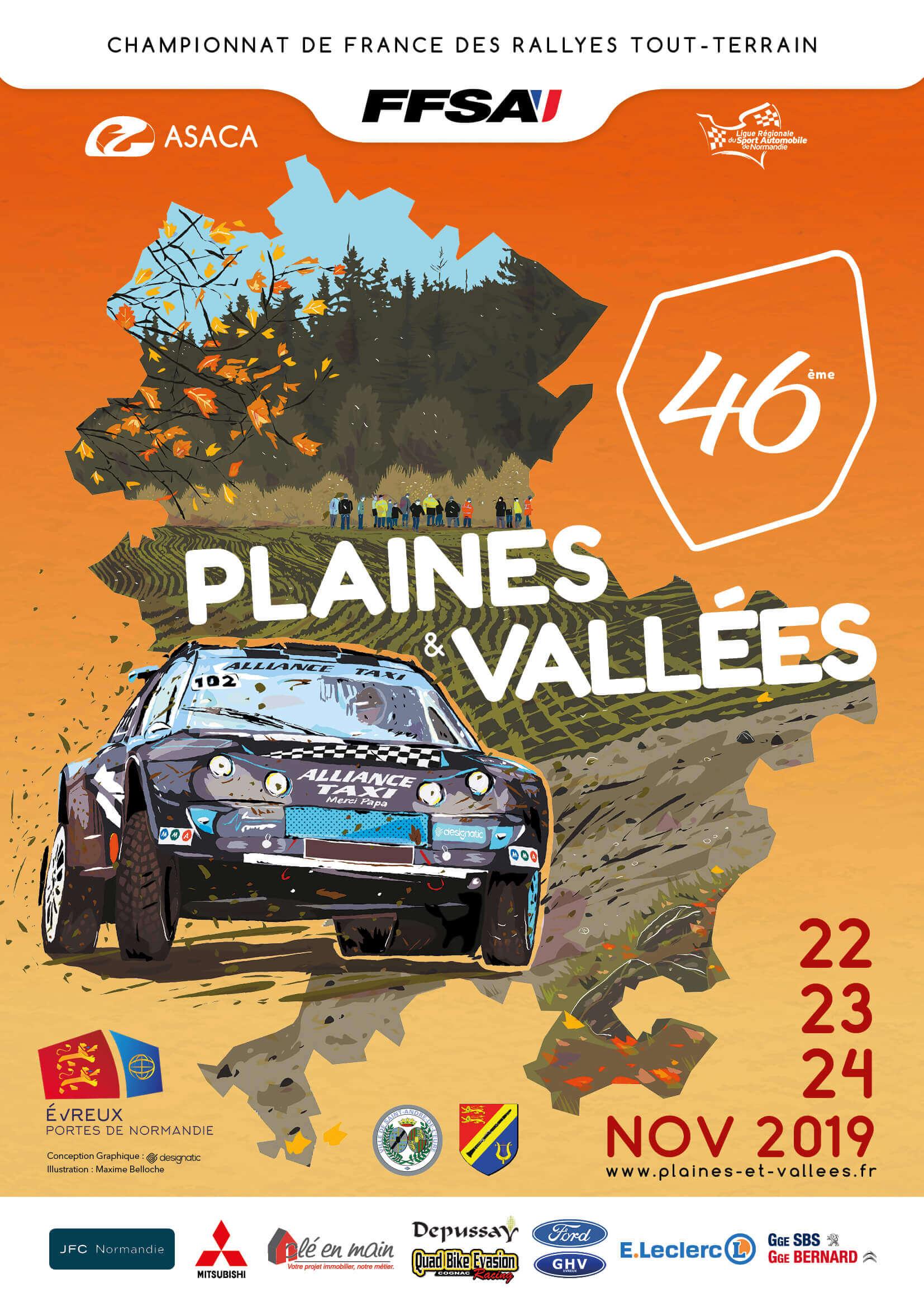 Affiche 2019 Rallye TT Plaines et Vallées Championnat de France