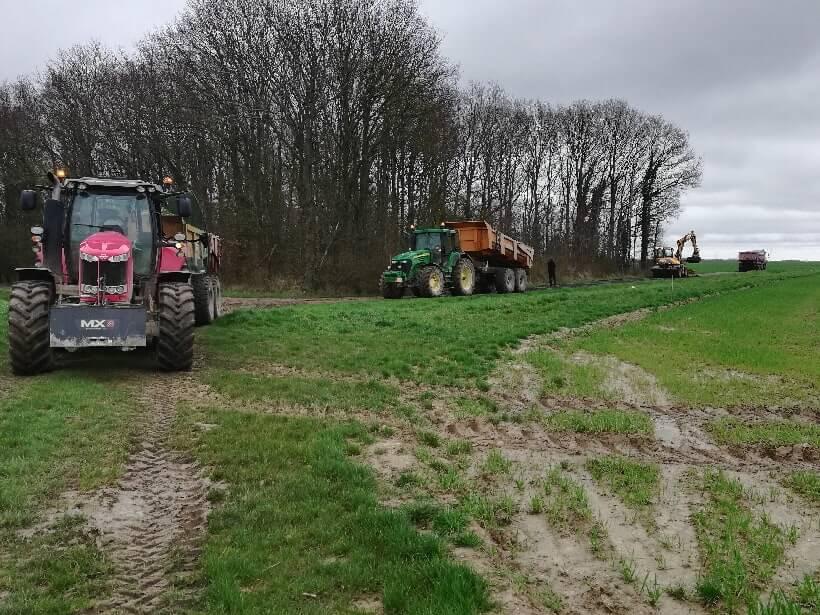 Photo ASACA remise en état chemins spéciales Rallye TT Plaines et Vallees Championnat de France Normandie